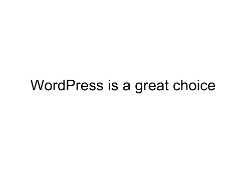 Matt Cutts siad WordPress is a grate choice.