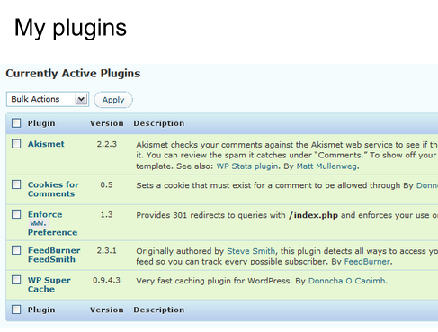 Matt Cutts my plugins.